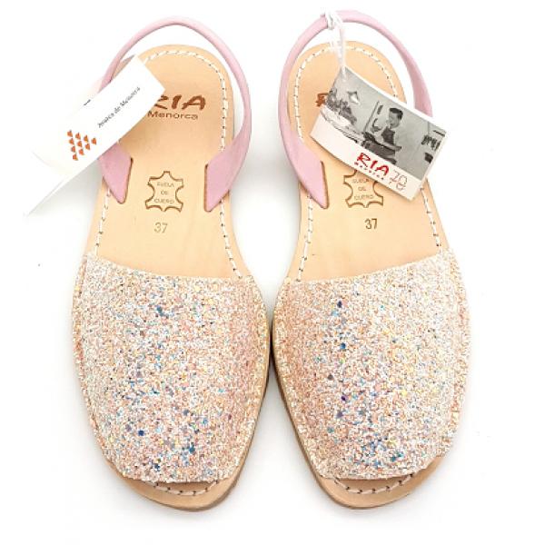 Sandale Avarca Glitter Windy Light Pink Roz Clasic