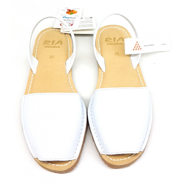 Sandale Avarca Bufalo Blanco Alb Confort