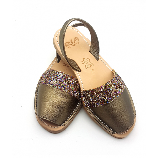 Sandale Avarca Metalizado Smoke glitter