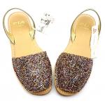 Sandale Avarca Glitter c9A Auriu Multi Confort
