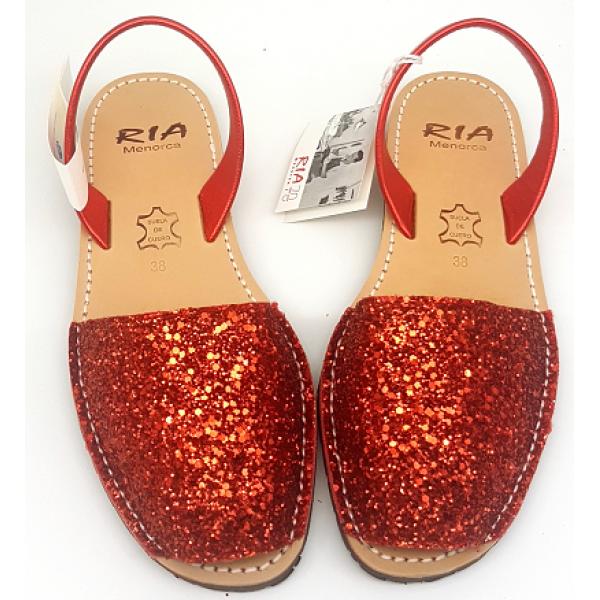 Sandale Avarca Glitter Rojo
